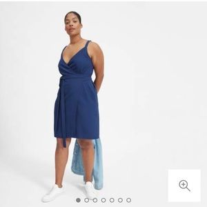 Dresses & Skirts - Japanese GoWeave Tank MINI Wrap Dress Royal Blue